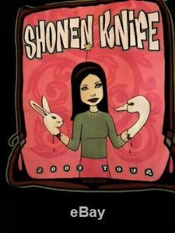 Super-awesome 2003 Shonen Knife XL Concert Tshirt+2 Concert Ticket Stubs-new