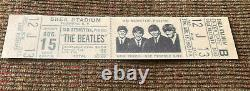 THE BEATLES 1966 Original CONCERT TICKET STUB Shea Stadium, NYC EX++