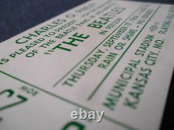 THE BEATLES Original 1964 CONCERT TICKET STUB $8.50 SEAT! Kansas City EX++