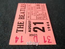 THE BEATLES Original 1964 CONCERT TICKET STUB Seattle EX+