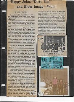 THE DOORS 2 ORIGINAL COBO ARENA CONCERT TICKET STUB MAY 8, 1970 PRESS AD REVIEW