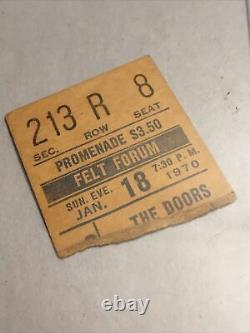 THE DOORS Original 1970 CONCERT TICKET STUB Madison Sq Garden, Felt Forum