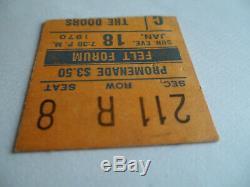 THE DOORS Original 1970 CONCERT TICKET STUB Madison Sq Garden, Felt Forum EX