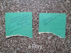THE DOORS Original Concert Ticket Stub Pair Fillmore East March 23, 1968