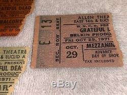 THE GRATEFUL DEAD 3 VINTAGE 1971 CONCERT GIG TICKET STUBS Jerry Garcia Bob Weir