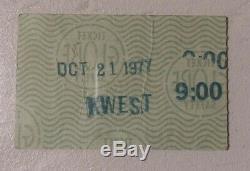 THE RAMONES @ Whisky a go go Oct. 21,1977. Concert ticket stub ULTRA RARE