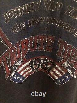 TRUE VTG 1987 Lynard Skynard Concert Tribute Tour with Ticket Stub Sz Medium