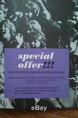 The Beatles 1964 U. S. A. Concert tour program & Cinncinnanti Gardens ticket stub