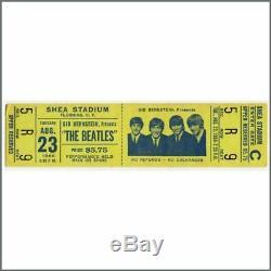 The Beatles 1966 New York Shea Stadium Concert Ticket Stub (USA)
