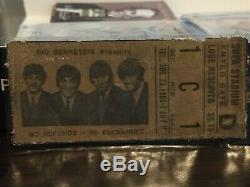 The Beatles-1966 RARE Concert Ticket Stub (New York-Shea Stadium)