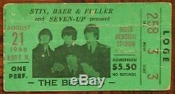 The Beatles-1966 RARE Original Concert Ticket Stub (St. Louis-Busch Stadium)