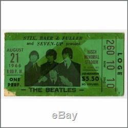 The Beatles 1966 St. Louis Busch Memorial Stadium Concert Ticket Stub (USA)