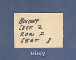 The Beatles Atlantic City Convention Hall 1964 Concert Ticket Stub ORIGINAL RARE