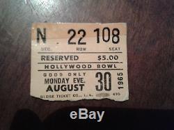 The Beatles Hollywood Bowl Concert Ticket Stub 1965! Vintage Original