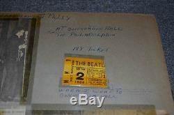 The Beatles Orig. 1964 Concert Ticket Stub Convention Hall, Phila, Sept. 2nd