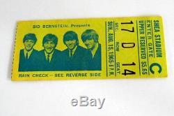 The Beatles Original 1965 Shea Stadium Concert Ticket Stub Put Away Til Now