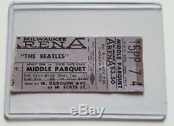 The Beatles Original September 4, 1964 Milwaukee Concert Ticket Stub + Prints