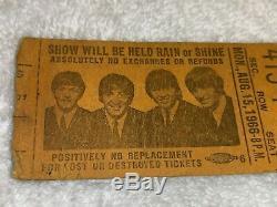 The Beatles Rare Vintage 1966 Washington D. C. Stadium Concert Ticket Stub USA