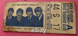 The Beatles Shea Stadium August 23rd 1966 Concert Original Ticket Stub