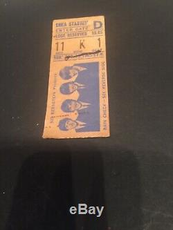 The Beatles Shea Stadium Concert, August 15, 1965 Ticket Stub