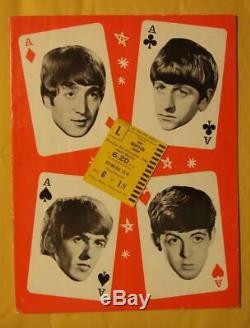 The Beatles Show Original 1964 UK Concert Program WithTicket Stub! Mary Wells