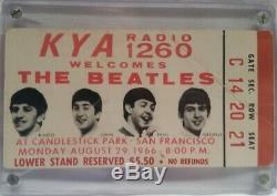 The Beatles Vintage 1966 Candlestick Park Last Concert Concert Ticket Stub