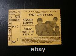 The Beatles Vintage Concert Ticket Stub 1965 Atlanta Ga