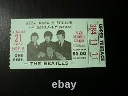 The Beatles Vintage Concert Ticket Stub 1966 St Louis Mo