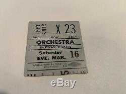 The Doors 1968 Concert Ticket Stub Eastman Theater Jim Morrison Linda Ronstadt