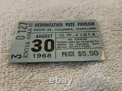 The Doors 1968 Concert Ticket Stub Merriweather Post Pavilion Jim Morrison USA