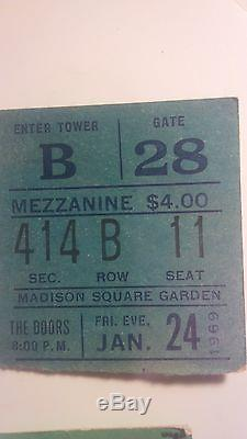 The Doors 1969 Madison Sq Garden Concert Original Ticket Stub