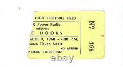 The Doors Cleveland Concert Ticket Stub 8-3-68