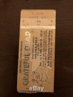 The Last Grateful Dead (Jerry Garcia) Concert Ticket Stub. Chicago July 9 1995