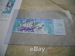 The Monkess Tork Dolenz Jones Signed Autograph Concert Ticket Stub PSA Certified