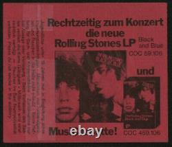 The Rolling Stones-1976 RARE Concert Ticket Stub (Berlin-Deutschlandhalle)