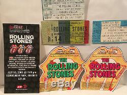 The Rolling Stones Concert Ticket Stubs Set Of 6 Rare