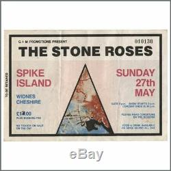 The Stone Roses 1990 Spike Island Concert Ticket Stub (UK)