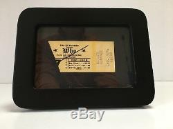 The WHO Framed Concert Ticket Stub Dec 7, 1979 Pontiac Silverdome Detroit MI