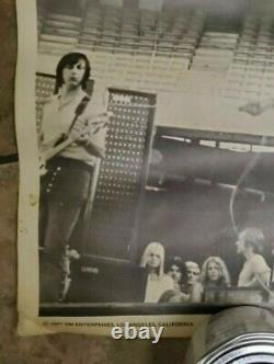 The Who Concert Poster From 1971 los angeles and ticket stub forum dec 9 1971