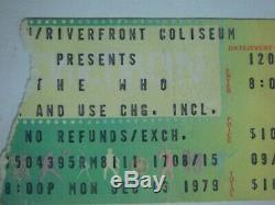The Who Tragedy Concert Ticket Stub Dec 3 1979 40th Anniversary Cincinnati Ohio