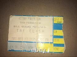 The clash concert ticket stub oct 13 1979 Kezar Pavilion San Francisco Calif