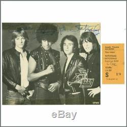 Thin Lizzy 1981 Autographs & Apollo Glasgow Concert Ticket Stub (UK)