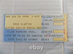 Ticket Stub From Stevie Ray Vaughan's Last Concert At Alpine Valley, WI