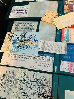 Ticket Stubs Lot of 310 Concerts Plays Grateful Dead Dylan Autographed Woodstock