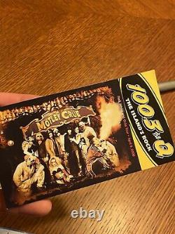 Tommy Lee of Motley Crue concert used Ahead drumstick with ticket stub not signed