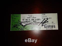 Tool Band Signed Autographed Concert Tour Ticket Stub Prog Metal