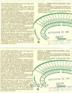 Two Queen Nepstadion Budapest 1986 Concert ticket stub side-by-side tickets