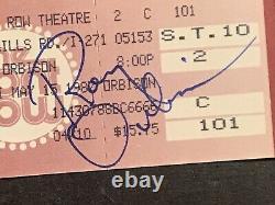 Two Roy Orbison Hand Signed Concert Ticket Stubs