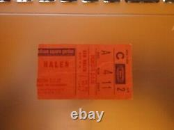 VAN HALEN CONCERT TICKET STUB 1982 Madison Square Garden, NYC