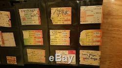 Vintage Rock Concert Ticket Stubs Lot Of 50